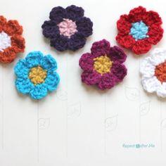 Simple Spring Crocheted Flowers