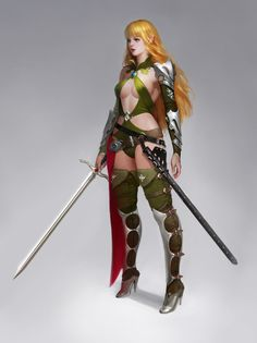ArtStation - elf knight, J.Won Han