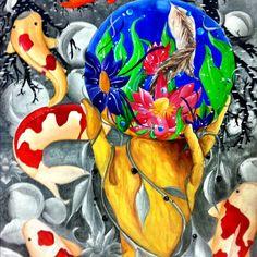Helen's painting - room 416 art