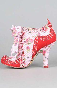 These shoes remind me of Strawberry Shortcake!! Irregular Choice 4