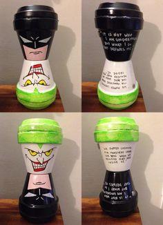 Batman vs Joker terracotta pots