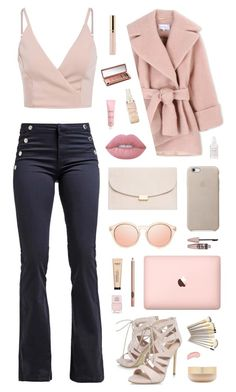 """151"" by glitterals ❤ liked on Polyvore featuring Carven, Carvela, Mansur Gavriel, Maybelline, Lime Crime, Dolce Vita, Eve Lom, Nails Inc., Urban Decay and NYX"
