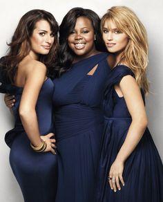 Lea Michele, Amber Riley, Dianna Agron - aka The Glee girls