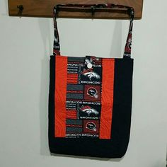MARCH MADNESS - Denver Broncos Purse Broncos Fabric, Fabric Button Closure, Quilted ✨Special Orders Available Evelyn's Quilting Bags Totes
