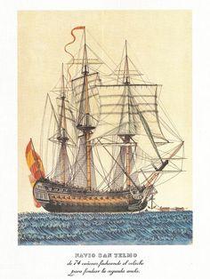 Navío de 74 cañones SanTelmo. Alejo Berlinguero. Museo Naval Madrid