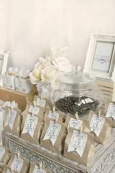 Coffee Bar Wedding Favors via Paper Girl Crafts
