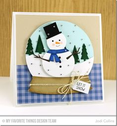Winter Wonderland, Snow Drifts Die-namics, Snow Globe Die-namics, Traditional Tags STAX Die-namics, Tree Lines Die-namics - Jodi Collins #mftstamps