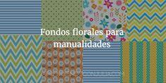 Fondos florales para hacer manualidades. Imprimible de flores para descargar y hacer collages, tarjetas de primavera... Imprimible para niños