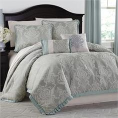 Majestic Scroll Jacquard Comforter Collection