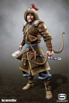 Tatar Warrior render, Georgi Georgiev on ArtStation at… Archer Characters, Fantasy Characters, Historical Art, Historical Pictures, March Of Empire, Soldado Universal, Vikings, Arte Assassins Creed, Champion Gear