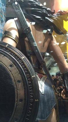 Batman V. Superman Wonder Woman costume display ~ Comic Con