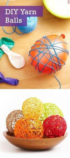 Cute cheap gift ideas Easy Crafts To Make and Sell - Cute Yarn Balls - Cool Homemade Craft Projects You Can Sell On Etsy, at Craft Fairs, Online and in Stores. Quick and Cheap DIY Ideas that Adults and Even Teens Can Make http:easy-crafts-to-make-and-sell Diy Craft Projects, Diy Home Crafts, Homemade Crafts, Project Ideas, Yarn Crafts Kids, Creative Crafts, Pallet Projects, Craft Tutorials, Teen Crafts