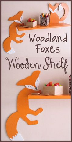 These two funny foxes are so cute! Woodland nursery theme is so sweet, it really makes a happy and fun place for kids to play. #woodlandnursery #nurserydecor #kidsroom #ad