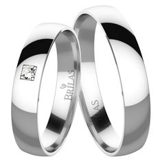 Eleanor White Briliant - snubní prsteny z bílého zlata a brilianty Love Bracelets, Cartier Love Bracelet, Bangles, Rings For Men, Wedding Rings, Engagement Rings, Diamond, Silver, Color