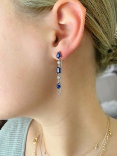 Aylas gold plated semi precious gem stone earrings teardrop Gold stone