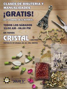 A partir de este sábado tendremos ¡CLASES DE #BISUTERÍA! No puedes faltar #pulseras #collares #accesoriosdemoda #creaconnostros