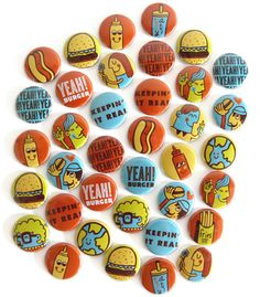 Yeah! Burger buttons! by Tad Carpenter