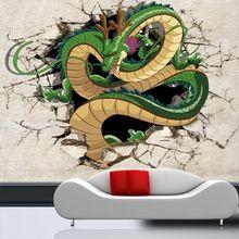 3D Dragón Foto Wallpaper Wallpaper Costumbre Japonesa Dragon Ball anime Mural Niños Habitación de Los Niños decoración de la Habitación Decoración Del Hogar
