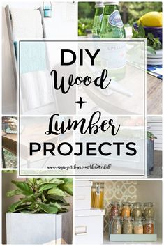 Love these amazing DIY Wood + Lumber Projects from the DIY Housewives and One Project Closer! via @JocieOPC