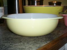 Pyrex Pale Yellow 024 Casserole by thetrendykitchen on Etsy, $17.99