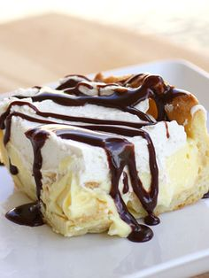 Chocolate Eclair Cake    http://www.the-girl-who-ate-everything.com/2009/06/chocolate-eclair-cake.html