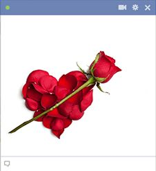 Send your friends a red rose emoticon in Facebook chat. The red rose is the classic symbol of love!