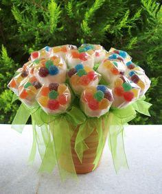 Candy Art, Candy Crafts, Candy Arrangements, Sweet Trees, Candy Favors, Chocolate Bouquet, Candy Bouquet, Candy Table, Candy Store