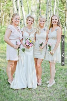 we adore the look of these pretty girls. | CHECK OUT MORE IDEAS AT WEDDINGPINS.NET | #bridesmaids