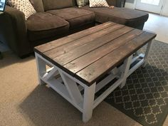 Custom Wood Farm House Coffee Table by HerHandcraftedHome on Etsy