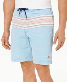 b2a79637643dd Tommy Bahama NEW Blue Mens Size Small S Striped Trunks Shorts Swimwear $89  #317 #