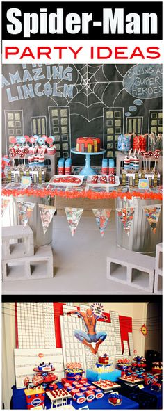Spider-Man Party Ideas   Visit www.fireblossomcandle.com for more party ideas!