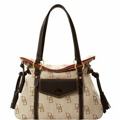 Dooney & Bourke Signature Jacquard The Smith Bag, Black - http://handbagscouture.net/brands/dooney-bourke/dooney-bourke-signature-jacquard-the-smith-bag-black/