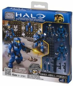 HALO MEGA-BLOKS UNSC SPARTAN EVA  MINIFIGURE W WEAPON  97390 NEW