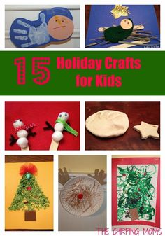 15 Christmas DIY Holiday Crafts & Activities for Kids || The Chirping Moms
