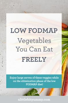 We all know that portion sizes are important to getting good symptom control while on the low FODMAP diet. However if you are feeling hungry there are some low FODMAP vegetables that can be eaten freely and enjoyed in large serves. Dieta Fodmap, Ibs Fodmap, Fodmap Diet Plan, Fodmap Foods, Low Fodmap Vegetables, Raw Vegetables, Ibs Diet, Paleo Diet, Fodmap Recipes