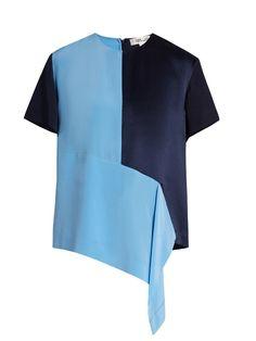 DIANE VON FURSTENBERG Colour-Block Silk Top. #dianevonfurstenberg #cloth #top