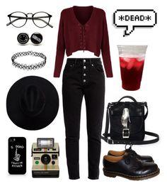"""""""bad habit"""" by vampirata ❤ liked on Polyvore featuring Zana Bayne, Balenciaga, Polaroid and Dr. Martens"""