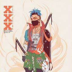 "EMPIRE_OF_SAMURAI on Instagram: ""By @vinne.art . . . #samurai #samuraiart #warrior #warriors #warriorart #warart #japan #asia #katana #sword #weapon #knife"" Anime Rapper, Rapper Art, Dope Cartoons, Dope Cartoon Art, Arte Dope, Dope Art, Reference Manga, Character Art, Character Design"