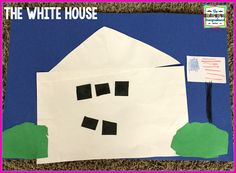 Simple White House art project for kids!  Perfect for a unit on American symbols and Constitution Day!