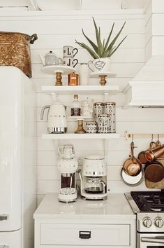 6 Ways to Style Open Kitchen Shelves - Liz Marie Blog