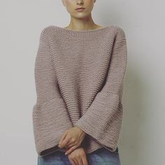 Garter bell sleeve sweater