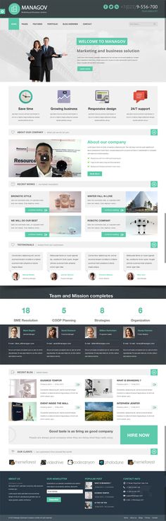Managov is a Multi-Purpose #WordPress #Theme, you can use this theme as Business , Agency or #Portfolio website, It's modern design built with #HTML5 and #CSS3, built-in theme option framework so you can easily to customize beyond your idea and also this theme is responsive.