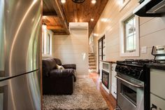 Full Size Couch - Retreat by Timbercraft Tiny Homes
