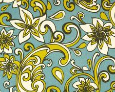 Summerland print blue natural - premier fabrics