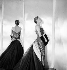 """Charles James """"Butterfly"""" Gown, 1954 Courtesy of The Metropolitan Museum of Art, Photograph by Cecil Beaton, The Cecil Beaton Studio Archive..."""