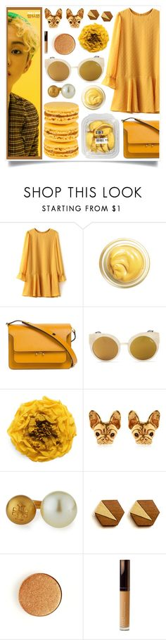 """""""Show Stopper"""" by racanoki ❤ liked on Polyvore featuring Marni, Quay, Gucci, Tory Burch, Becca and RaCaNoKi"""