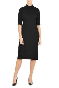 I <3 this Turtleneck ponte knit dress from eShakti