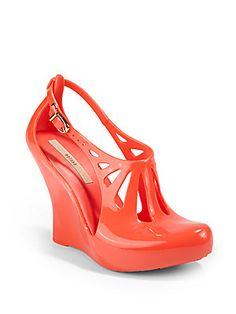 Melissa Cristal Cutout Wedge Sandals