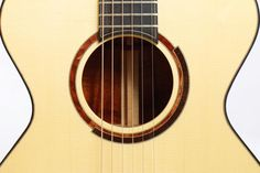 Michaud OO-R Koa and Engelmann Spruce Acoustic Guitar - Rosette