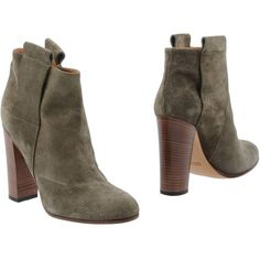 Golden Goose Ankle Boots (580 CAD) ❤ liked on Polyvore featuring shoes, boots, ankle booties, grey, gray ankle boots, grey boots, leather booties, grey booties and gray booties